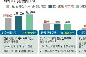 단기 주택 공급, 민간서 호응… 공공전세 등 3만 가구 확보
