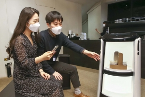 배민 자율주행 로봇, 도심 빌딩서 '커피' 배달 나선다