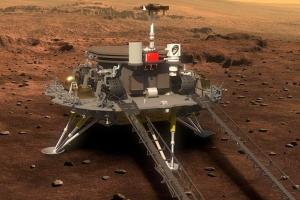 中 톈원 1호, 10개월 여정 끝 화성 착륙 성공…美 추격