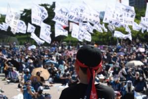 택배노동자 과로사 대책 마련·사회적 합의 의행 촉구 집회