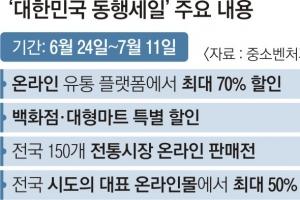 """""""최대 70% 할인""""… 내수 살리는 '동행세일'"""