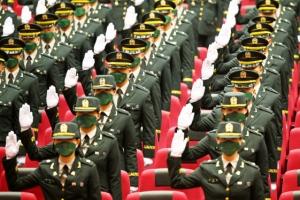 임관 선서하는 '신임 장교들'