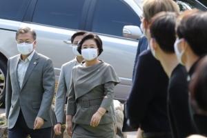 문 대통령·BTS, 청와대 만남 순간