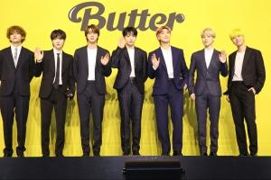 BTS '버터', 미국 사로잡았다…3주 연속 '빌보드 1위' 신기록