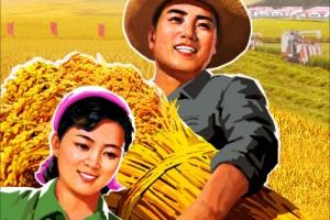 北 농사 결속 강조 선전화