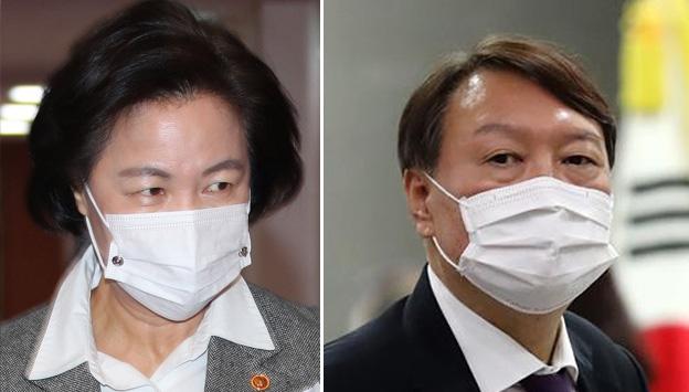 """'윤석열 직무정지' 국민 과반 56% """"추미애 잘못했다"""""""