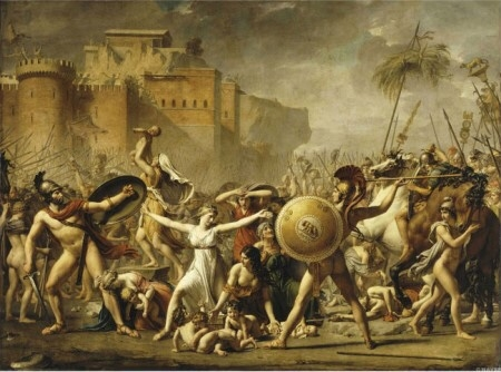 Jacques-Louis David 'The Intervention of the Sabine Women' 1799, 385×522㎝, 프랑스 루브르박물관 소장