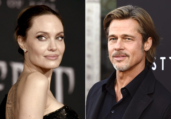 Angelina Jolie and Brad Pitt.  AP Yonhap News