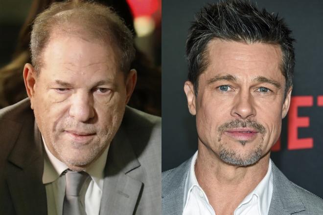 Harvey Weinstein and Brad Pitt Associated Press